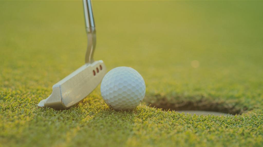 golf putter and golf ball