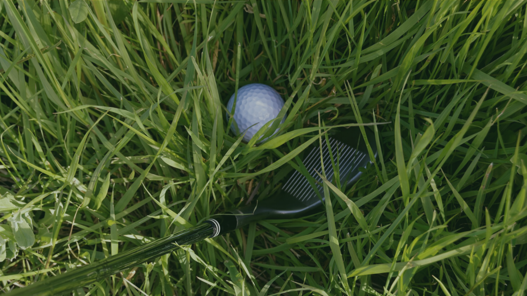 golf wedge and grass