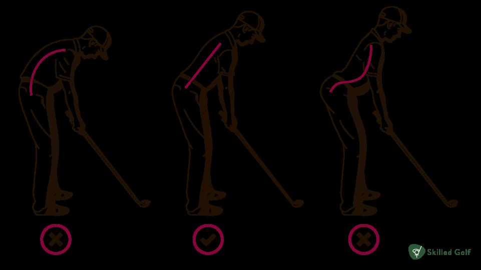 golf setup posture