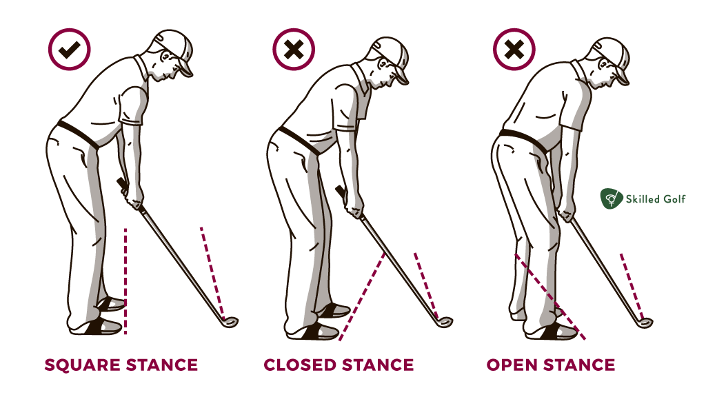 golf stance alignements