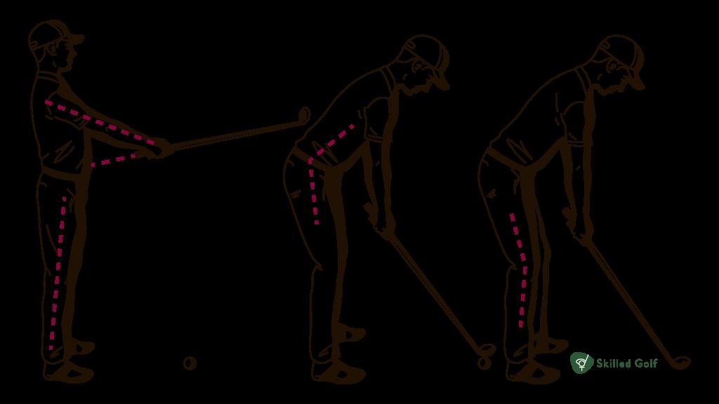 proper posture setting to hit ball